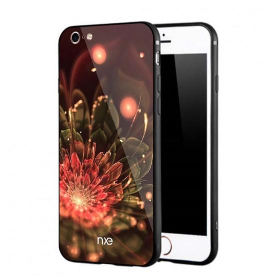GLASS FLOWER ORANŽNA - APPLE IPHONE 6 / IPHONE 6S