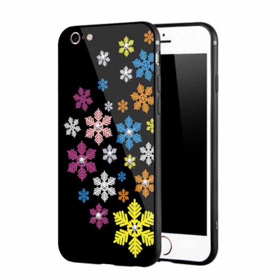 NXE GLASS MAVRIČNE SNEŽINKE - APPLE IPHONE 6 / IPHONE 6S