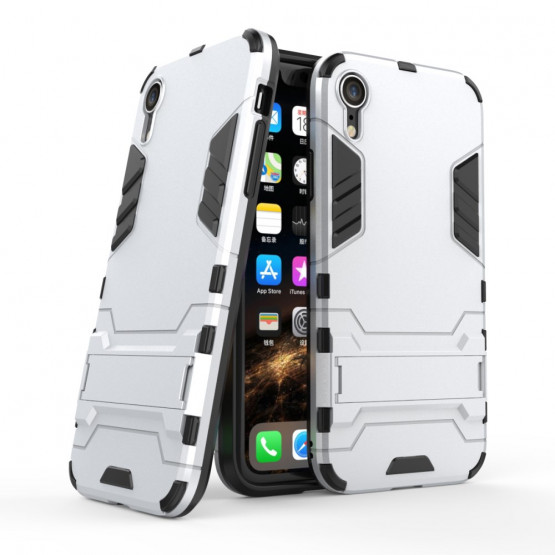 ROBOCOP SREBRN - APPLE IPHONE XR