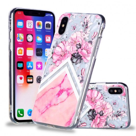3D CVETLIČNO ROZA MARMOR - APPLE IPHONE X / XS