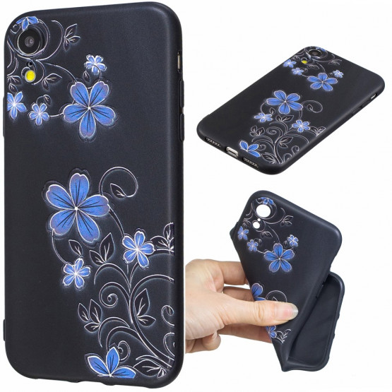 SLIM BLACK MODRA VZPENJALKA - APPLE IPHONE XR