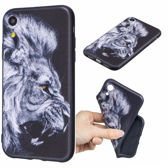 SLIM BLACK ANGRY LION - APPLE IPHONE XR