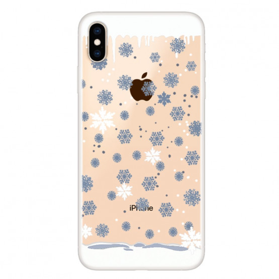 SLIM PROSOJNE MODRE SNEŽINKE - APPLE IPHONE XS MAX