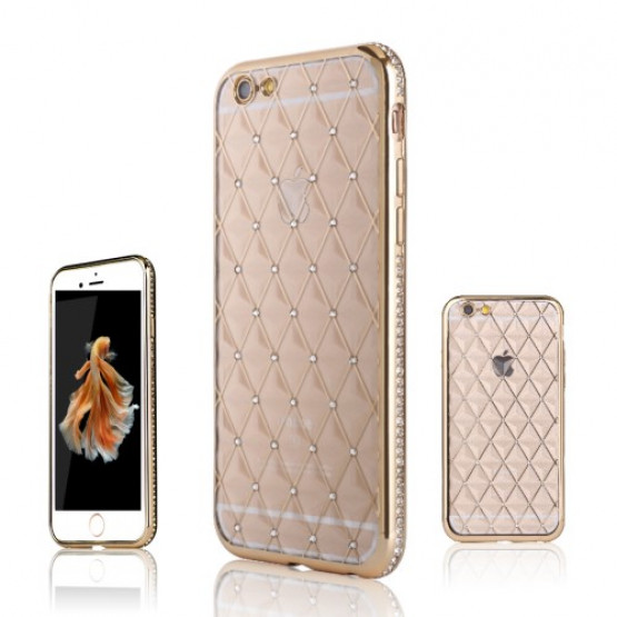 DIAMANTNI ROMBI GOLD - APPLE IPHONE 6 PLUS / 6S PLUS