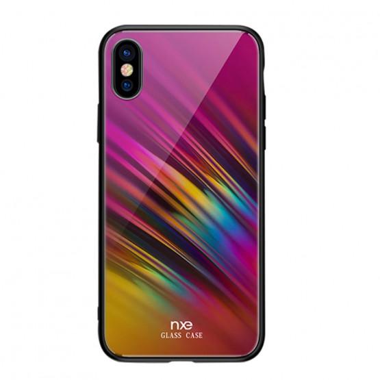 NXE GLASS ROZA SIJ OVITEK ZA APPLE IPHONE X / XS