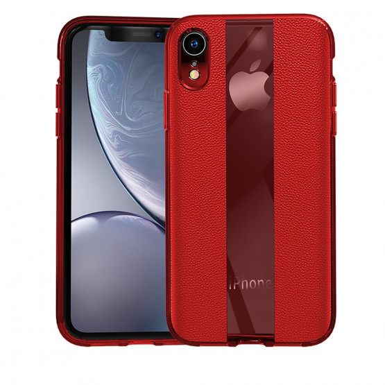 STYLISH LEATHER RED - APPLE IPHONE XR