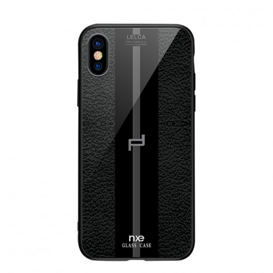 NXE GLASS LEATHER ČRN - APPLE IPHONE XS MAX