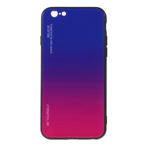 GLASS BE YOURSELF TWILIGHT BLUE/PURPLE OVITEK ZA APPLE IPHONE 6 / IPHONE 6S