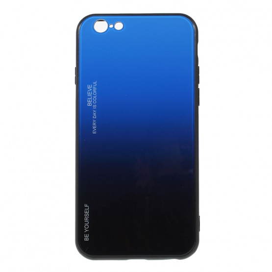 GLASS BE YOURSELF TWILIGHT BLACK/ BLUE OVITEK ZA IPHONE 6 PLUS/ 6S PLUS