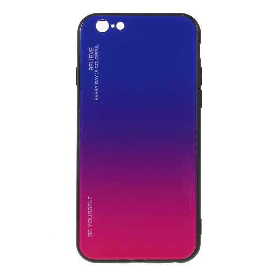 GLASS BE YOURSELF TWILIGHT BLUE/PURPLE OVITEK ZA IPHONE 6 PLUS/ 6S PLUS