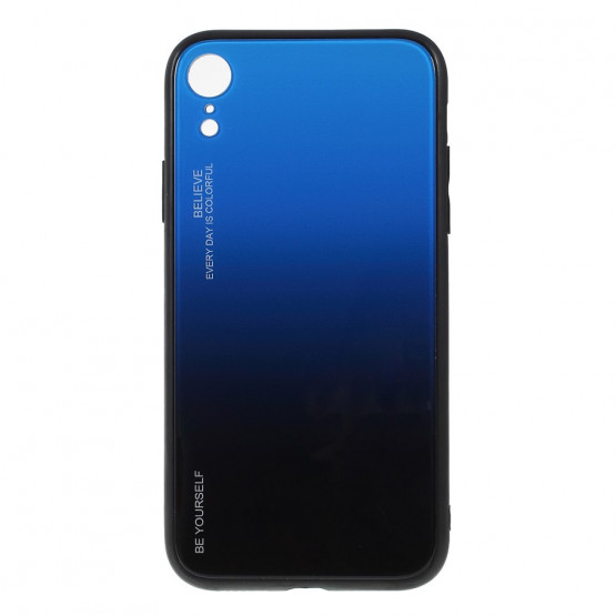 GLASS BE YOURSELF TWILIGHT BLACK7 BLUE OVITEK ZA IPHONE XR
