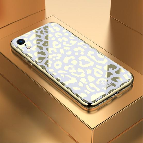 GLASS DIVJI LEOPARD BEL OVITEK ZA APPLE IPHONE XR