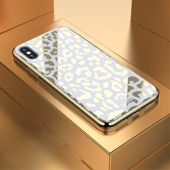 GLASS DIVJI LEOPARD BEL OVITEK ZA APPLE IPHONE X / XS