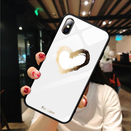 GLASS GOLDEN HEART BEL OVITEK ZA APPLE IPHONE X / XS