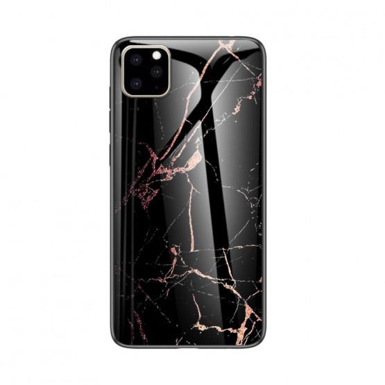 GLASS ČRN MARMOR OVITEK ZA APPLE IPHONE 11 PRO MAX