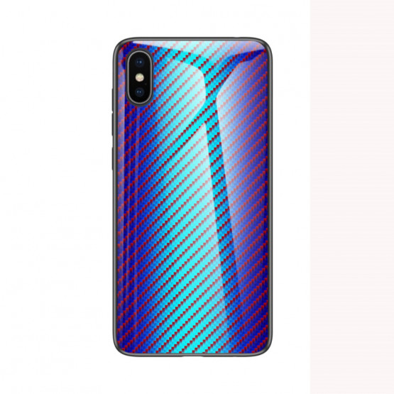GLASS KARBON MAVRICA MODER OVITEK ZA APPLE IPHONE XS / IPHONE X