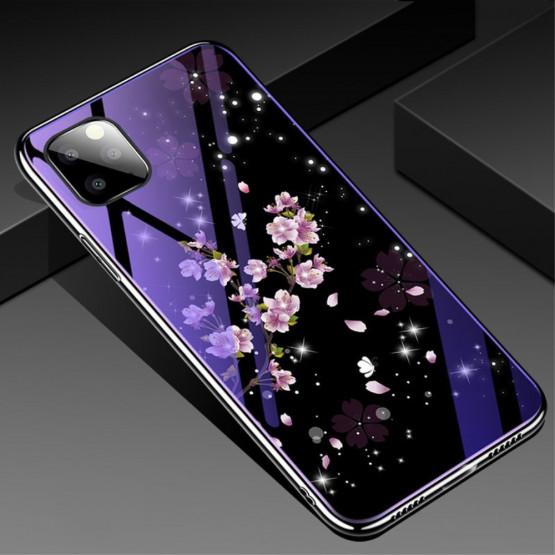 GLASS BLUE-RAY CVETOVI BRESKVE OVITEK ZA APPLE IPHONE 11 PRO MAX