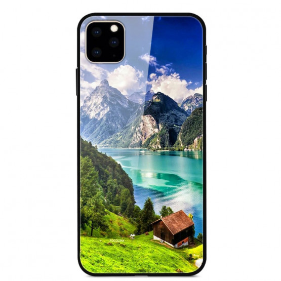 GLASS KOČA OB JEZERU OVITEK ZA APPLE IPHONE 11 PRO MAX