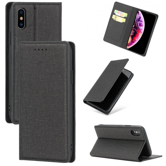 SLIM MAGNETIC JEANS ČRN ETUI ZA APPLE IPHONE X / XS