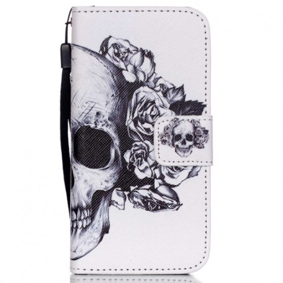 FLOWER SKULL - APPLE IPHONE 5 / 5S / SE