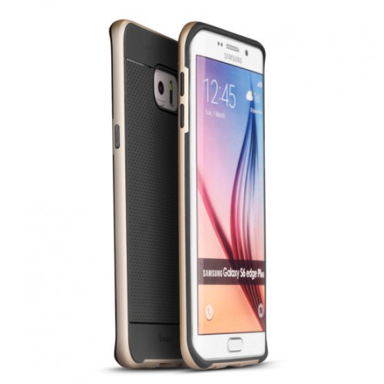 IPAKY DOUBLE FIT ZLAT - SAMSUNG GALAXY S6 EDGE +