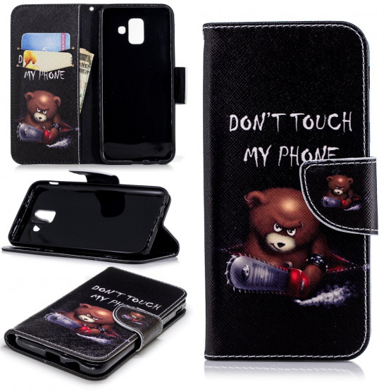 DON'T TOUCH MY PHONE ANGRY BEAR - SAMSUNG GALAXY A6 (2018)