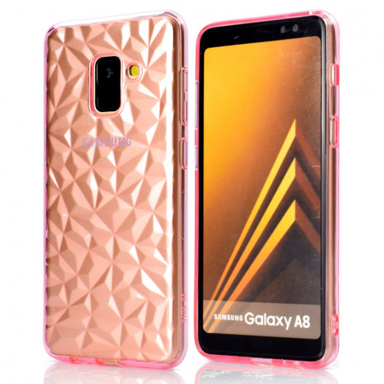 3D DIAMOND ROZA - SAMUSNG GALAXY A8 (2018)
