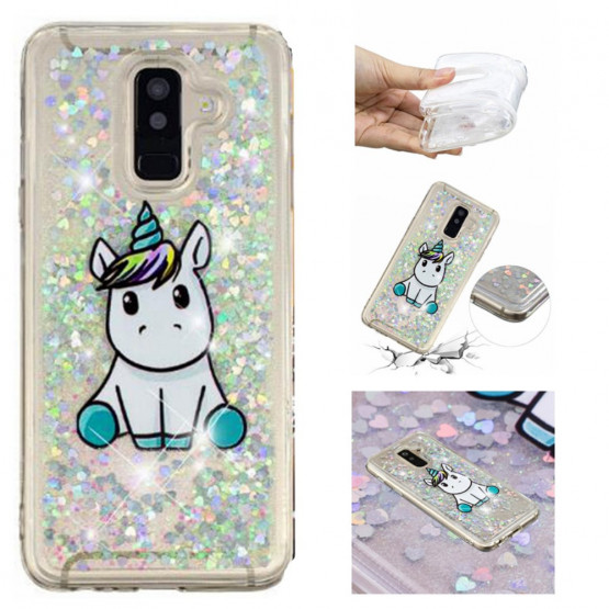 LIQUID BLEŠČICE CUTE UNICORN - SAMSUNG GALAXY A6 PLUS (2018)