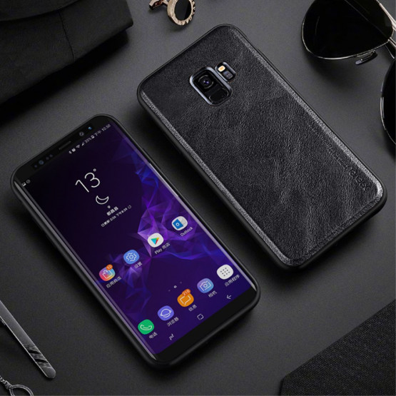X-LEVEL VINTAGE LEATHER BLACK - SAMSUNG GALAXY S9