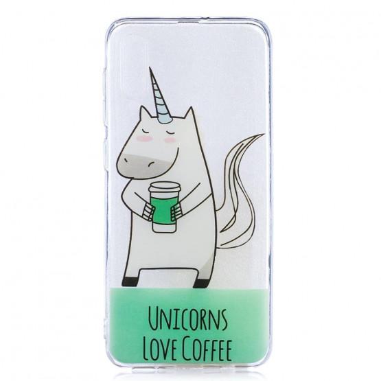 SLIM PROSOJNA UNICORNS LOVE COFFEE OVITEK ZA SAMSUNG GALAXY A50