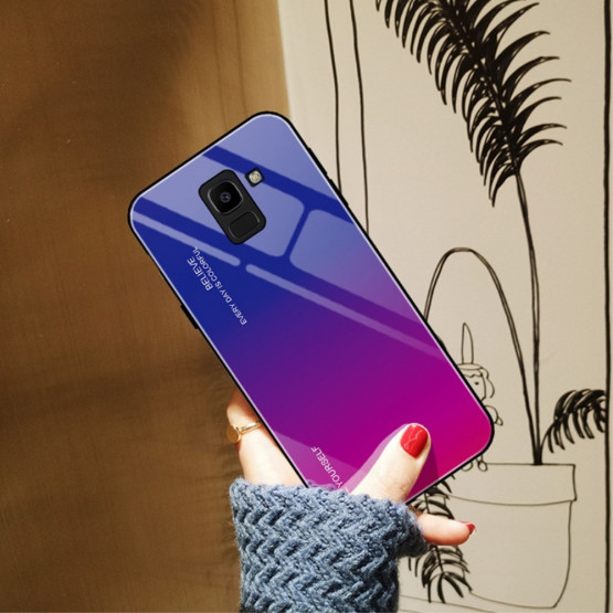 GLASS BE YOURSELF TWILIGHT BLUE/PURPLE OVITEK ZA SAMSUNG GALAXY J6 (2018)