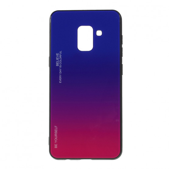 GLASS BE YOURSELF TWILIGHT BLUE/PURPLE OVITEK ZA SAMSUNG GALAXY A8 (2018)