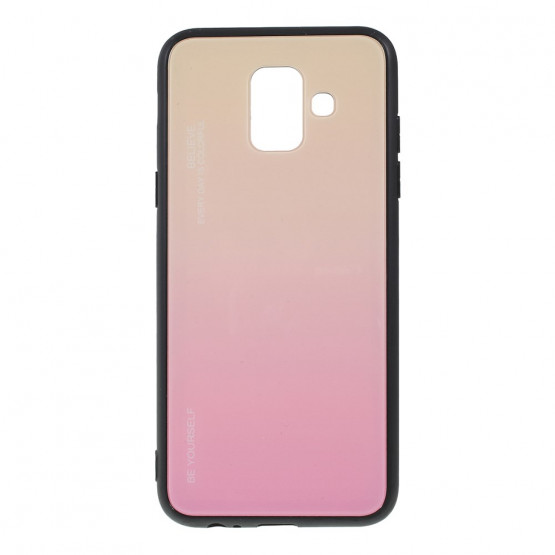 GLASS BE YOURSELF TWILIGHT GOLD OVITEK ZA SAMSUNG GALAXY A6 (2018)
