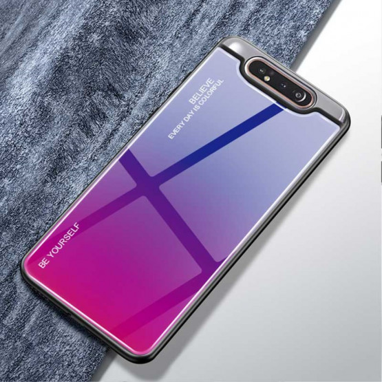 GLASS BE YOURSELF TWILIGHT BLUE/PURPLE OVITEK ZA SAMSUNG GALAXY A80