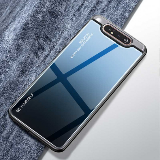 GLASS BE YOURSELF TWILIGHT BLACK/BLUE OVITEK ZA SAMSUNG GALAXY A80