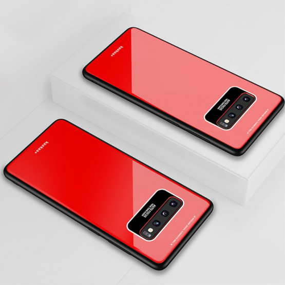 GLASS RDEČ OVITEK ZA SAMSUNG GALAXY S10 PLUS