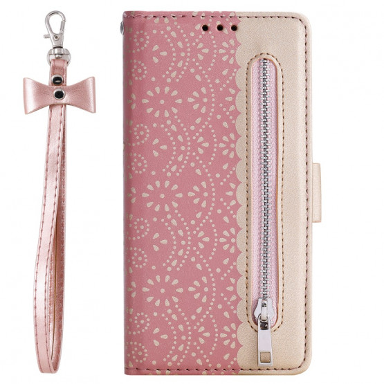 KRALJEVA ČIPKA ROSE GOLD ETUI ZA SAMSUNG GALAXY NOTE 10 PLUS