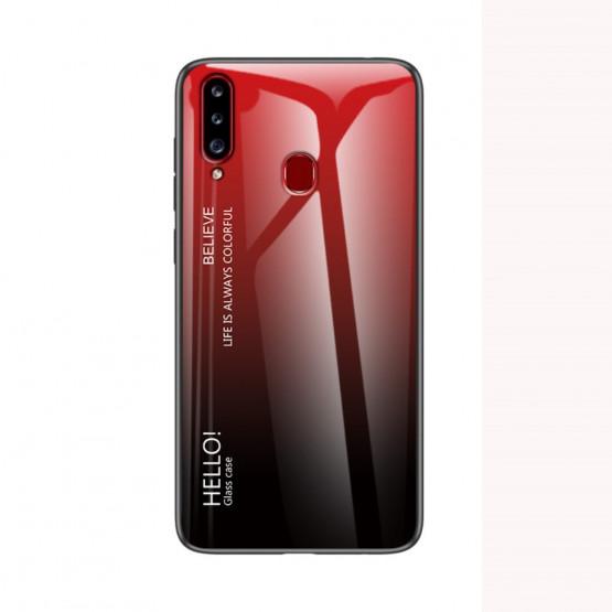 GLASS HELLO! RED/BLACK OVITEK ZA SAMSUNG GALAXY A20S