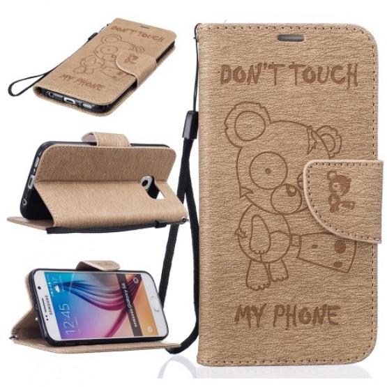BEARS DON'T TOUCH MY PHONE BEŽ - SAMSUNG GALAXY S6