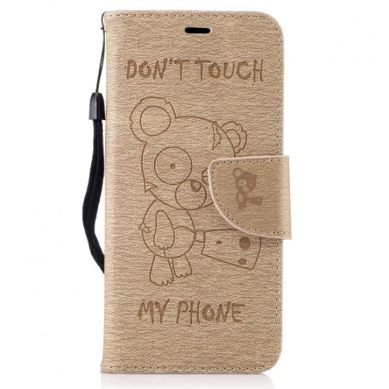 BEARS DON'T TOUCH MY PHONE BEŽ - SAMSUNG GALAXY S8