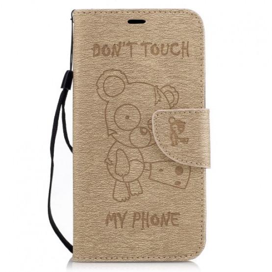 BEARS DON'T TOUCH MY PHONE BEŽ - LG K10 (2017)