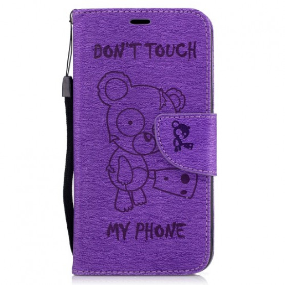 BEARS DON'T TOUCH MY PHONE VIJOLIČEN - LG K10 (2017)