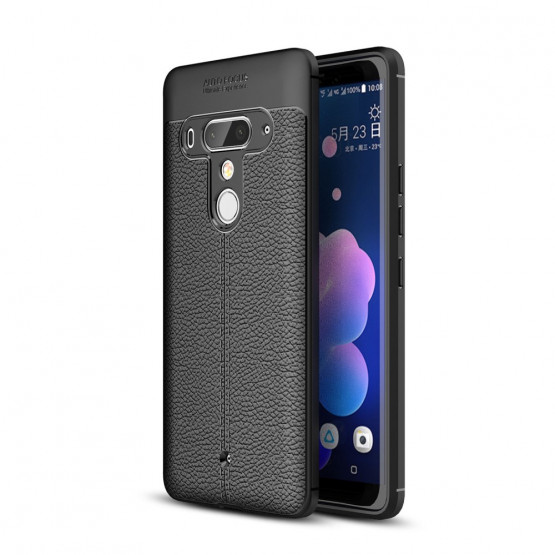FLEX LEATHER ČRN - HTC U12 PLUS
