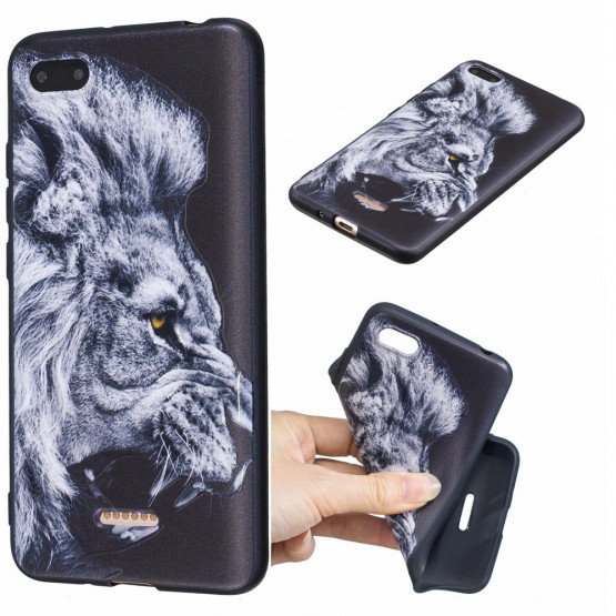 SLIM BLACK ANGRY LION - XIAOMI REDMI 6A