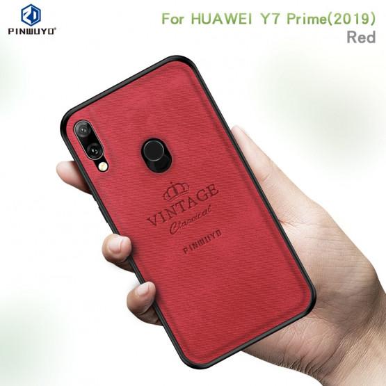 PINWUYO VINTAGE CLASSICAL RDEČ OVITEK ZA HUAWEI Y7 PRIME (2019) / Y7 (2019)