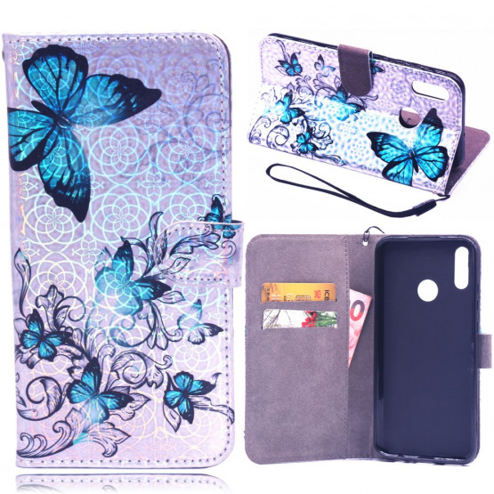 LASER BLUE BUTTERFLIES ETUI ZA HUAWEI P SMART (2019) / HONOR 10 LITE