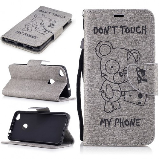 BEARS DON`T TOUCH MY PHONE GREY - HUAWEI HONOR 8 LITE