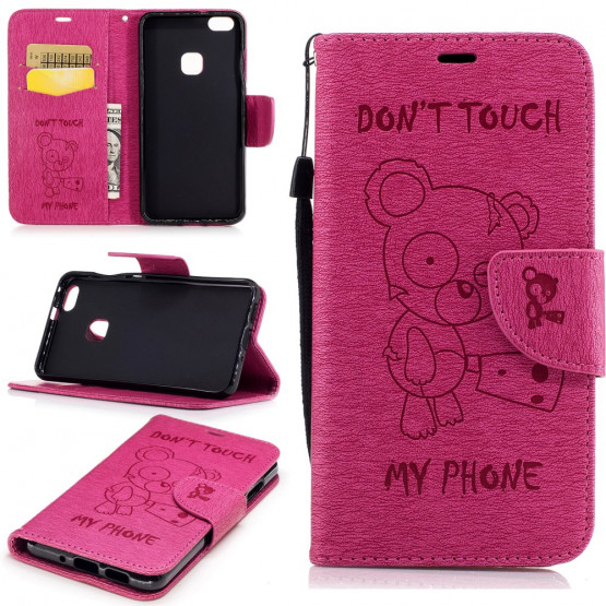 BEARS DON'T TOUCH MY PHONE PINK - HUAWEI P10 LITE