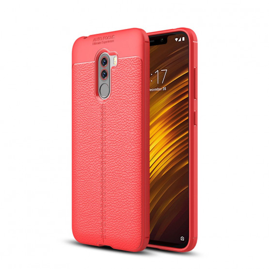 FLEX LEATHER RDEČ - XIAOMI POCOPHONE F1