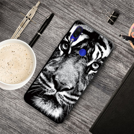 SLIM BLACK ANGRY TIGER - XIAOMI REDMI NOTE 7